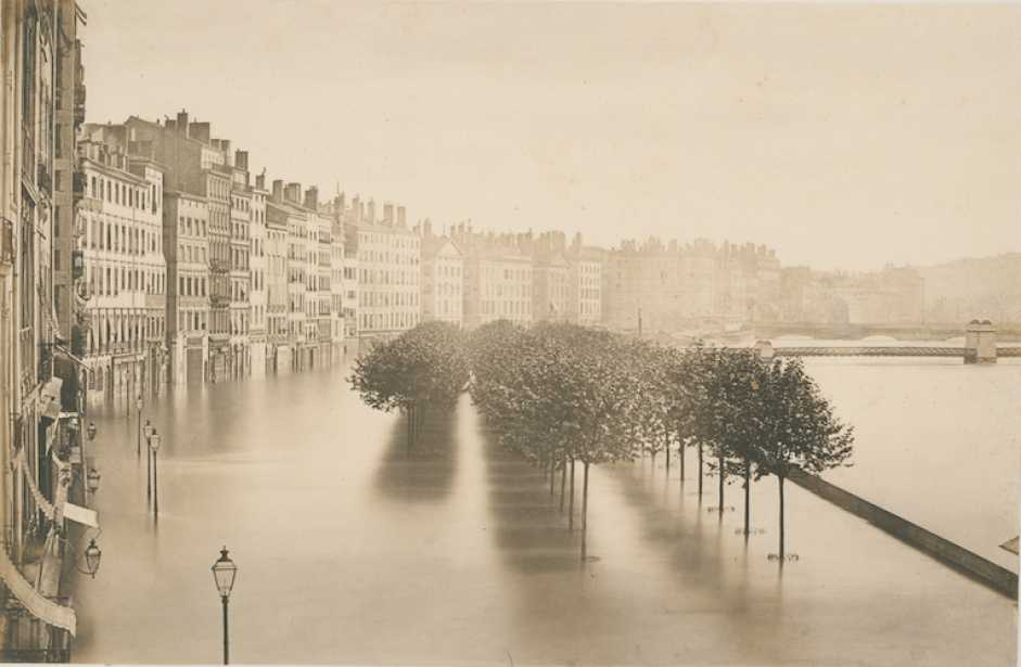 Louis-Antoine Froissart (French, 1815-1860) Lyon Flood, 1856, Salt print from a collodion negative, 22.4 x 34.5 cm