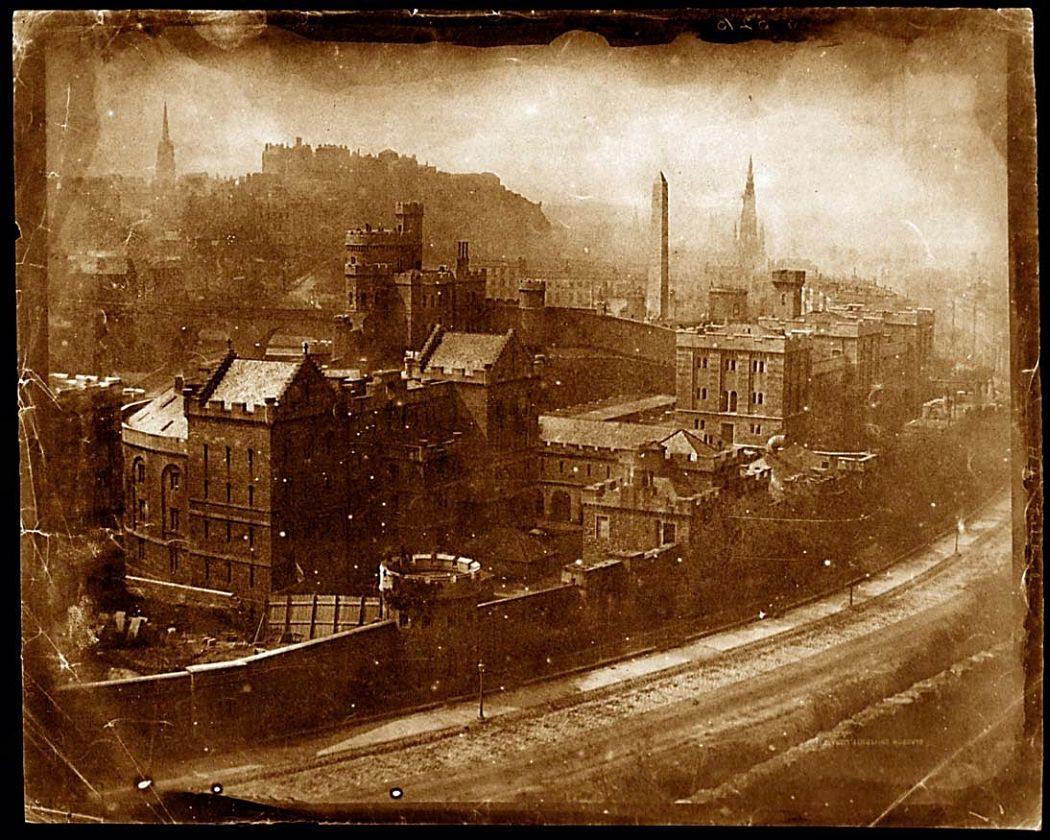 View from Calton Hill, after October 1844.