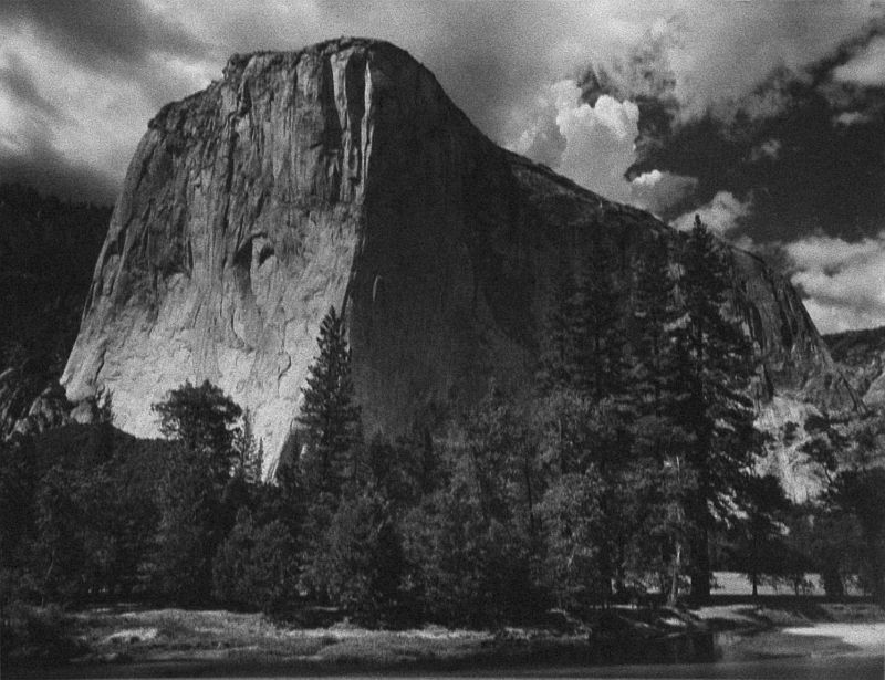 El Capitan and the Merced River, Yosemite National Park, CA, 1930's