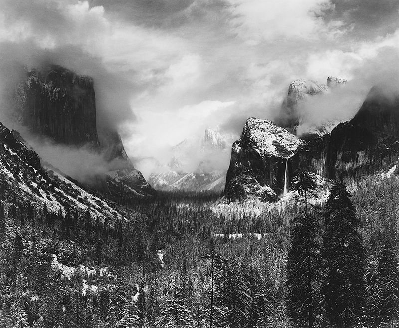Clearing Winter Storm, Yosemite, CA, 1944
