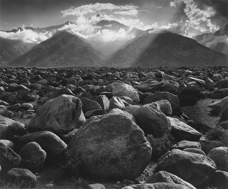 Mt. Williamson, The Sierra Nevada, from Manzanar, California, 1944