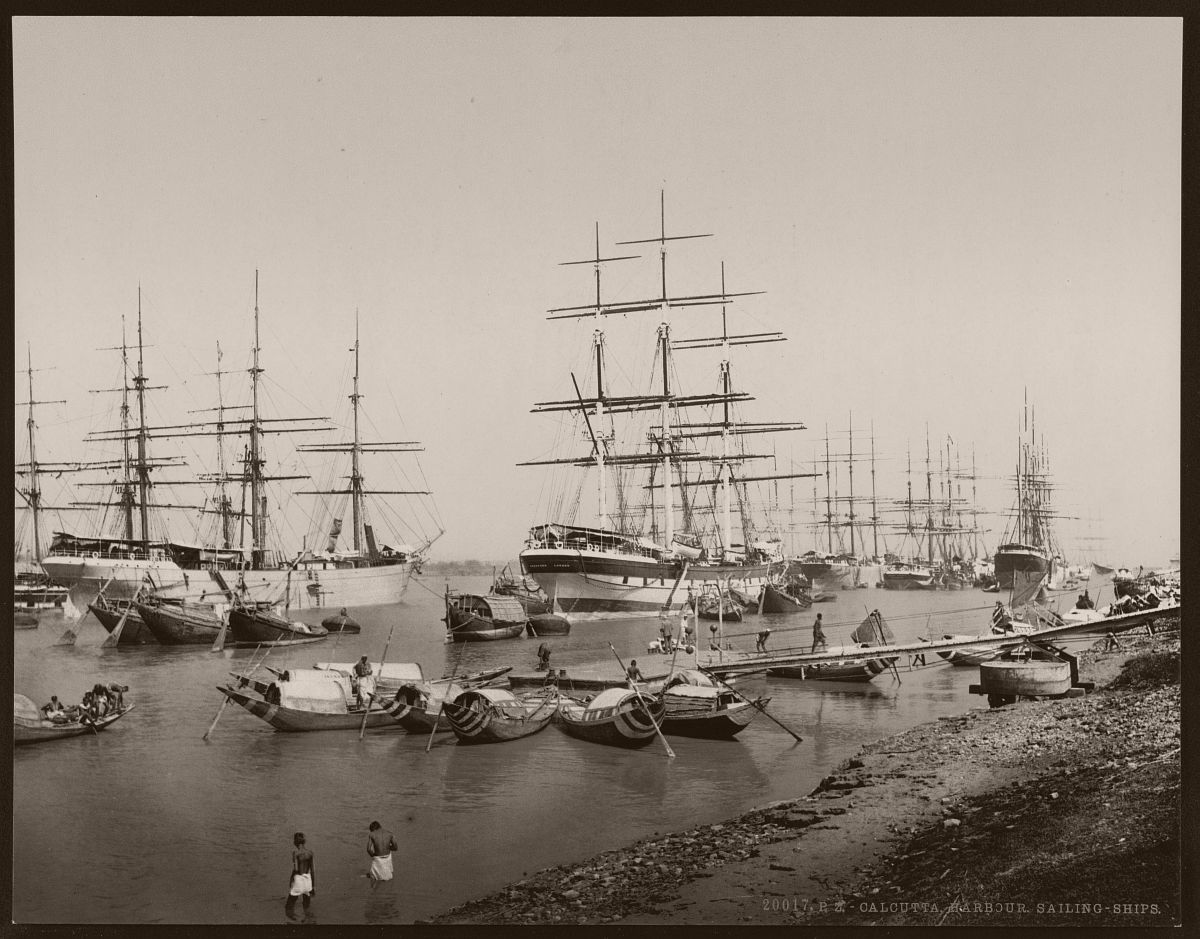 Calcutta. Harbour. Sailing-ships