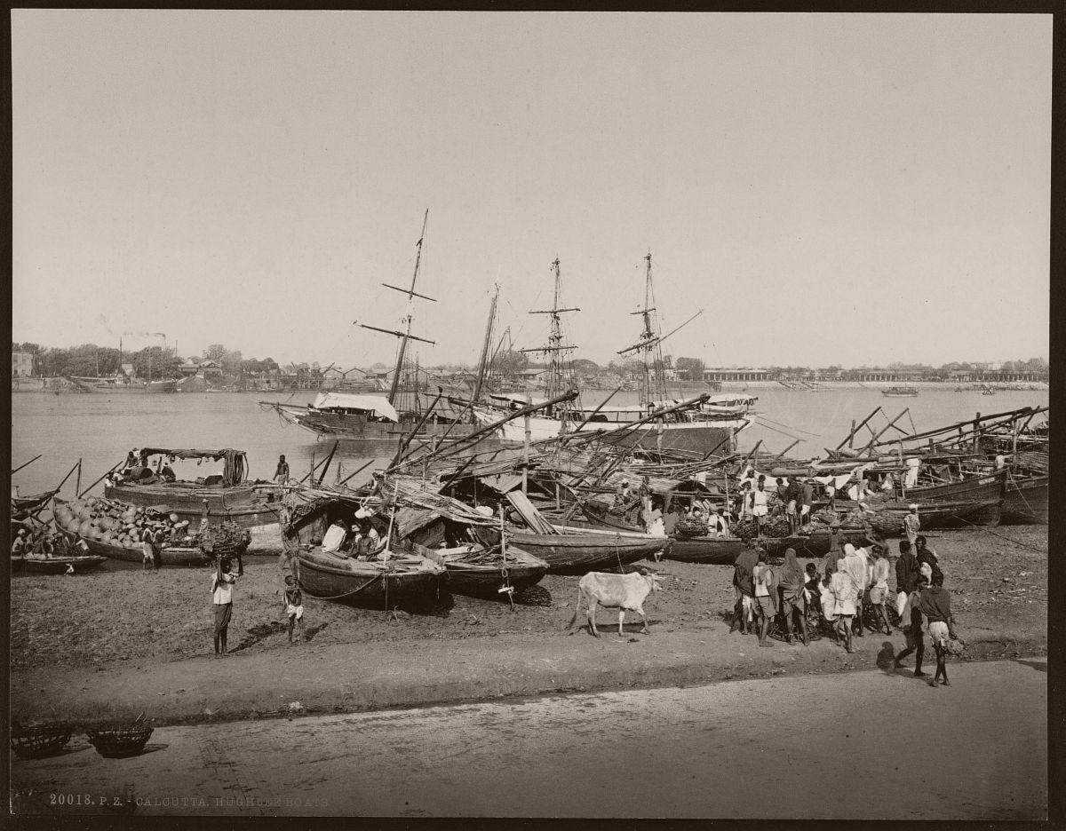 Calcutta. Hughlee boats