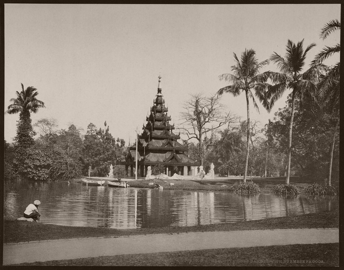 Calcutta Eden Garden with Burmese pagoda