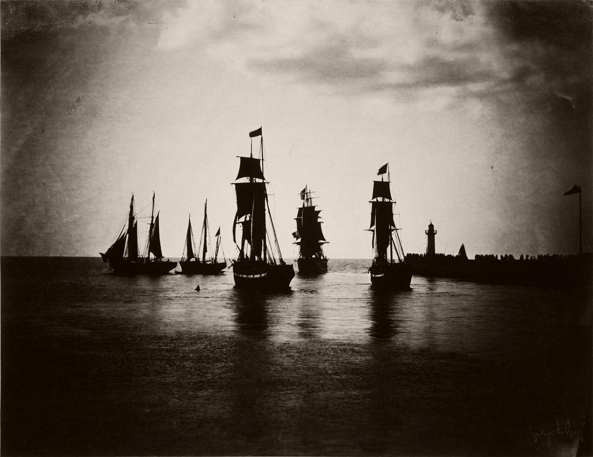 Bateaux quittant le port du Havre (1855/1856)