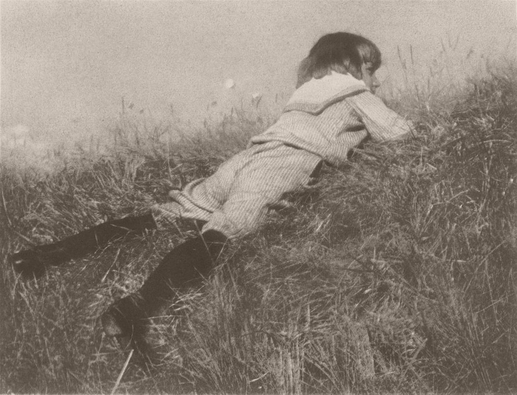 Heinrich Kühn, Hans in a Meadow, c. 1907