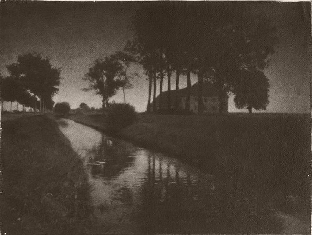 Heinrich Kühn, Abend am Schleißheimer Kanal, 1899