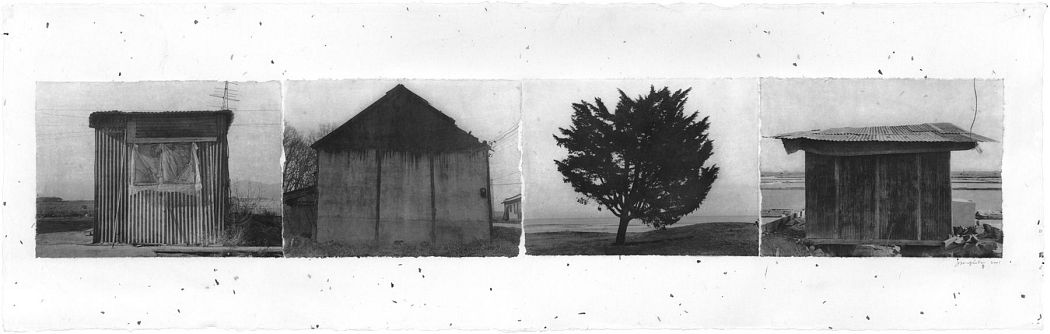 On Road 01-31-2, 2001 Four gelatin silver prints on hand-coated Korean Mulberry Paper