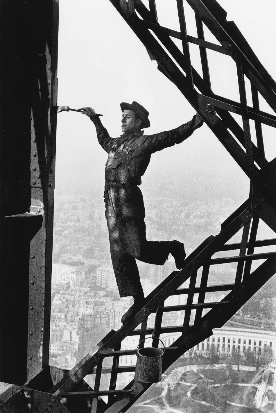 Marc Riboud: Painter of the Eiffel Tower, Paris 1953