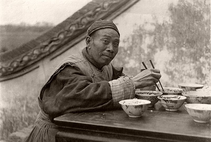 Man with chopsticks