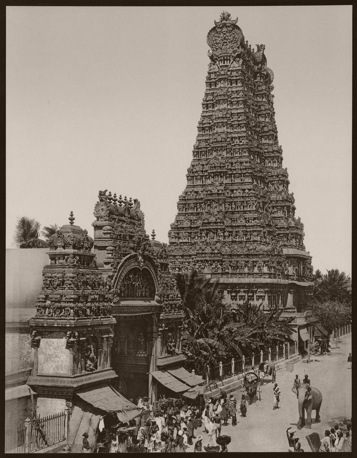 South of India. Seringham, Gopura.