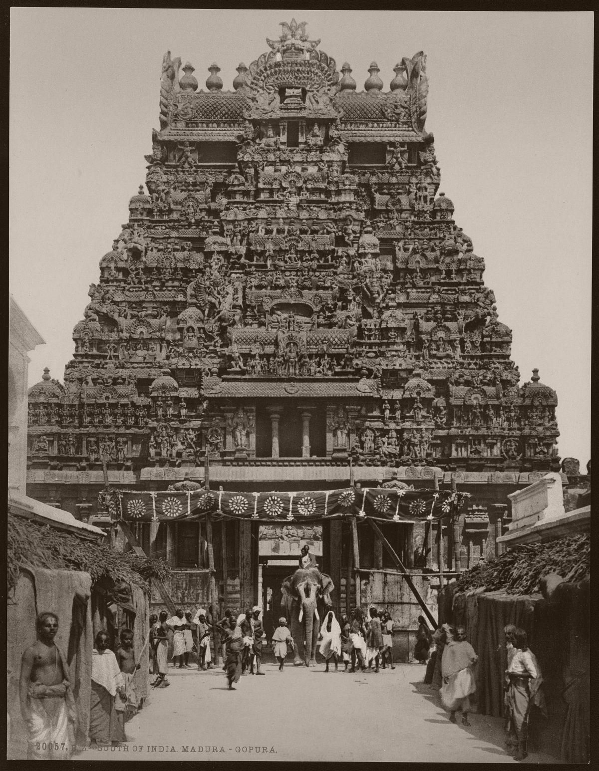 South of India. Madura. Gopura.