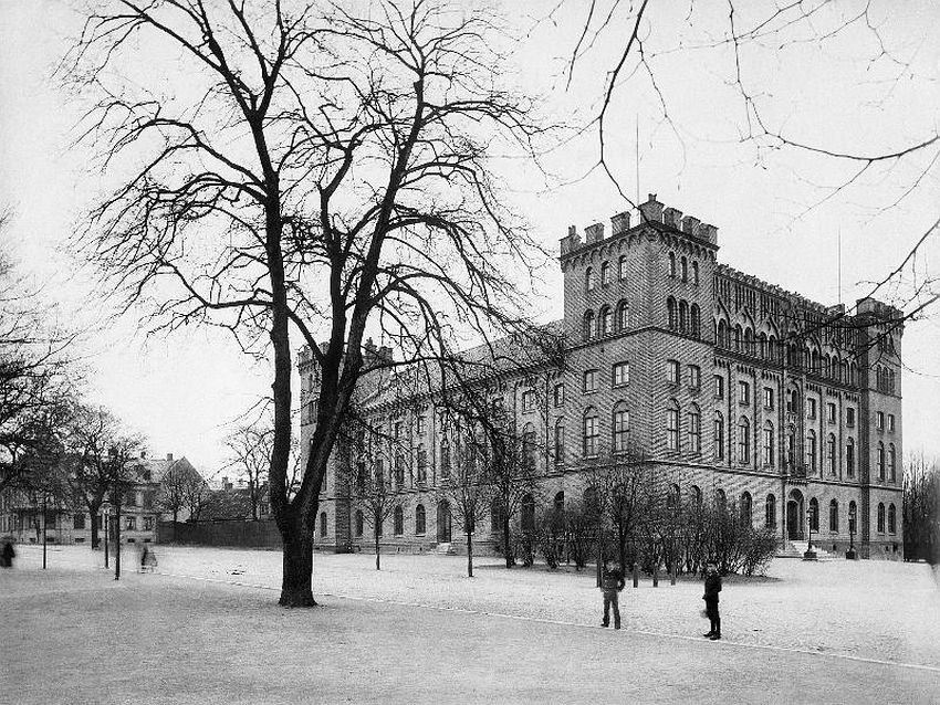 Lund. 'The AF-fortress' - the building of the Academic Society, built about 1850 at the Lundagård park