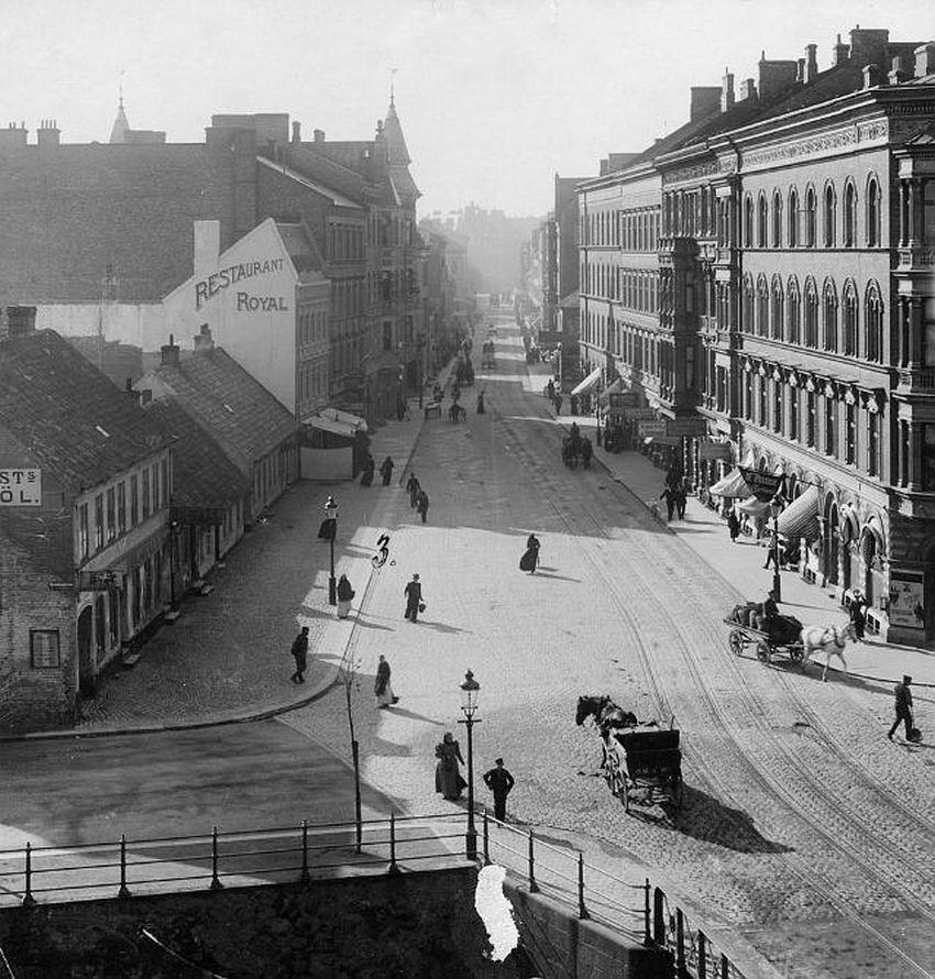 Malmö. Södra Förstadsgatan street, viewed from the Southern Customs