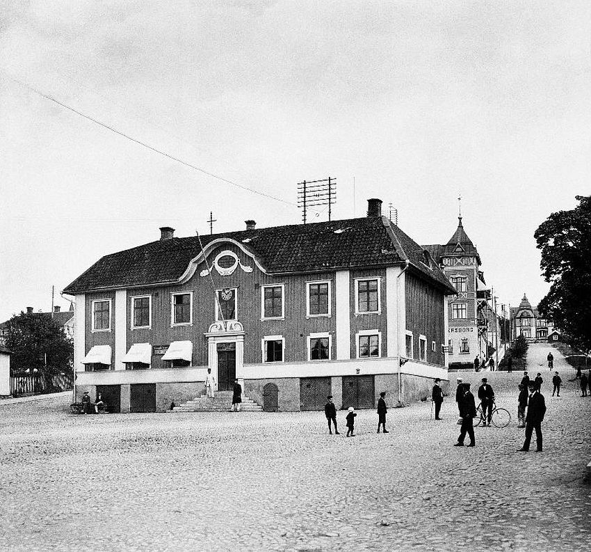 Ulricehamn. The Town Hall from 1789 at the Main square