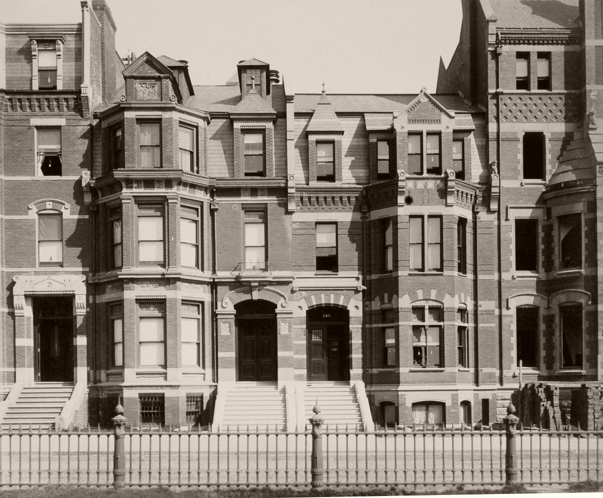 245-247 Commonwealth (ca. 1883), photograph by Albert Levy; Ryerson and Burnham Libraries Book Collection, The Art Institute of Chicago