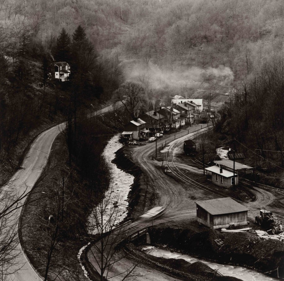 Builder Levy. Coal Camp, near Grundy, Buchanan County, Virginia, 1970. Gold-toned gelatin silver print.