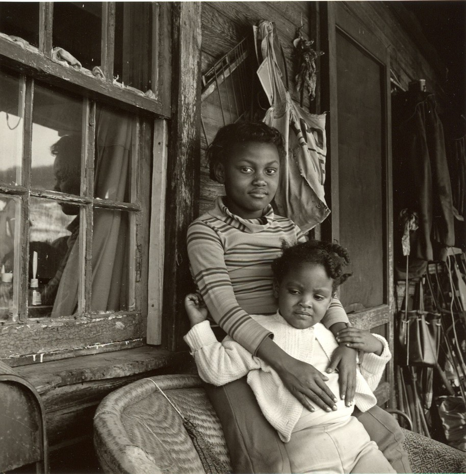 Builder Levy. Sisters, Osage, Scotts Run, Monongalia, West Virginia, 1970. Gold-toned gelatin silver print.