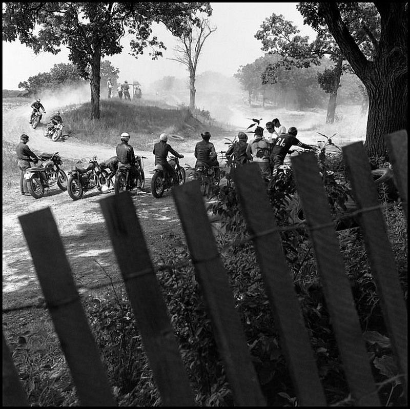 Danny Lyon Scrambles Track, McHenry, Illinois, 1965 Gelatin silver print  Gift of Ron Beller  Copyright Danny Lyon/Magnum Photos