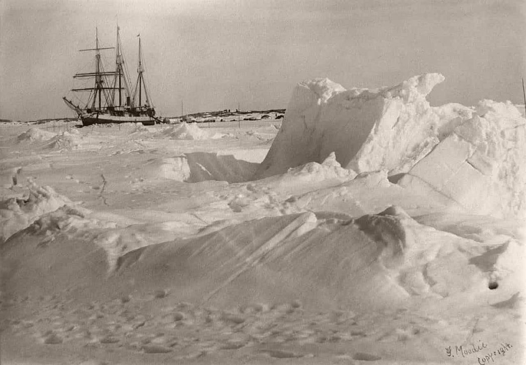 DGS Arctic frozen in the ice, Fullerton Harbour, Nunavut, April 1905