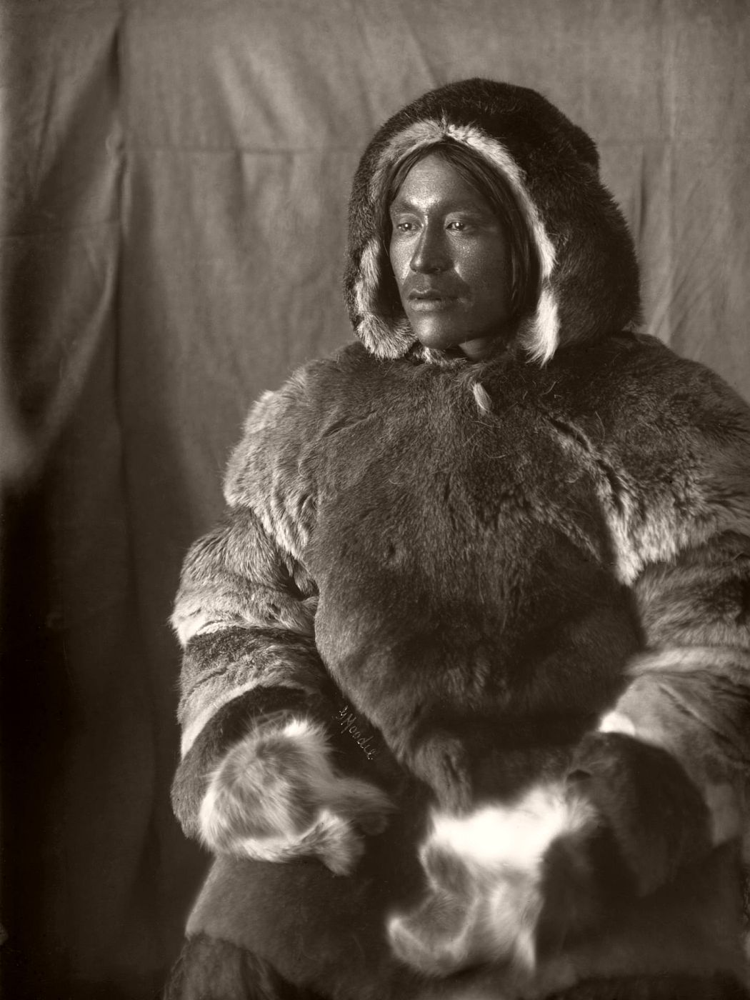 Inuit man, Toopealock, of the Kinepetoo, Fullerton Harbour, Nunavut, c.1904-05