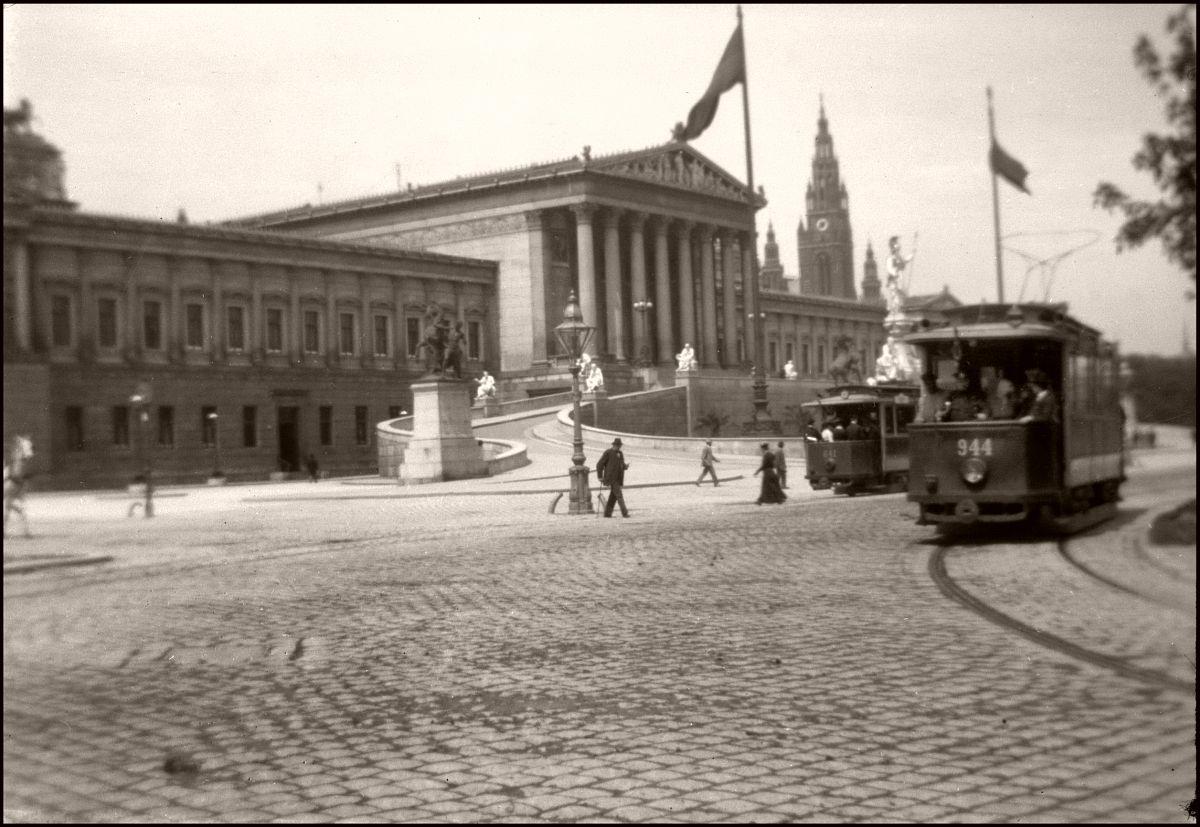 Vienna 1903 Austrian Parliament Building.