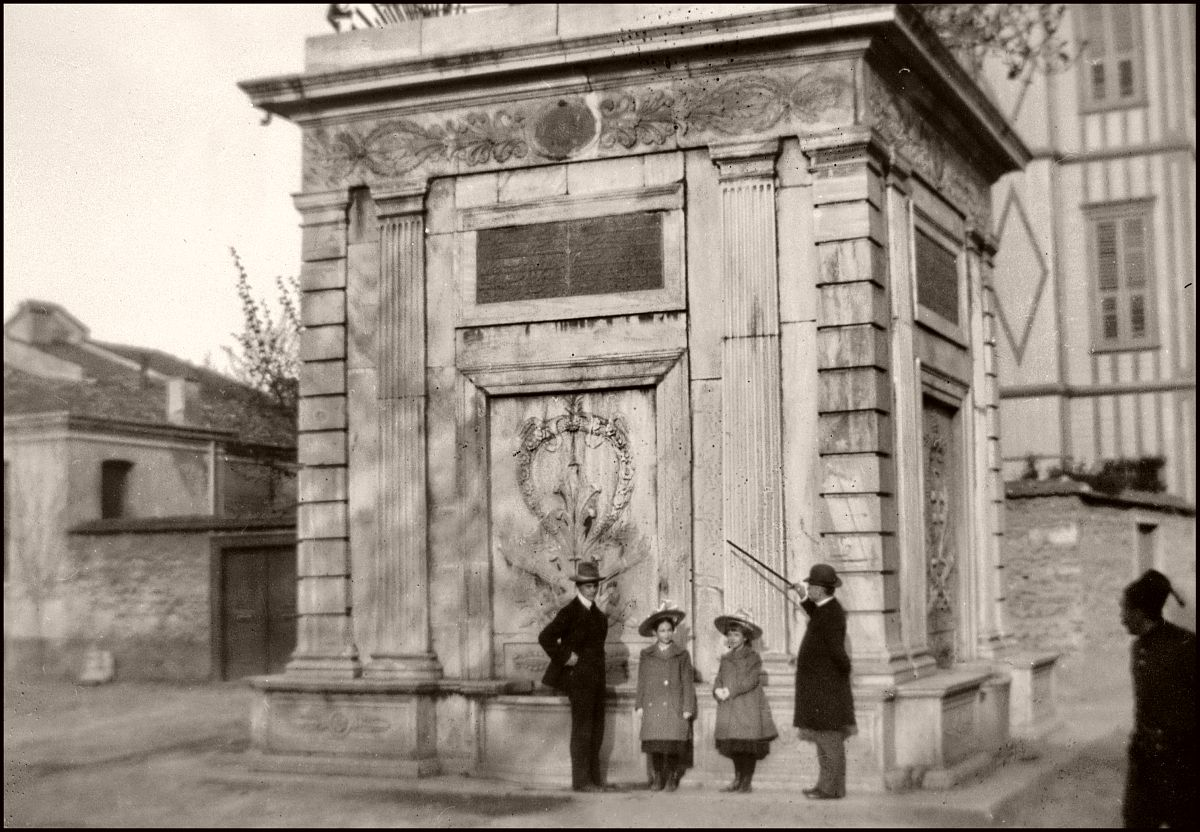 "Monument on Taksim Square ? (1903) This negative was labelled ""Taksim""."