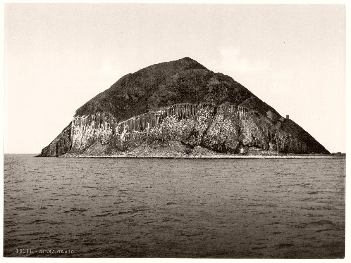 General view, Ailsa Craig, Scotland