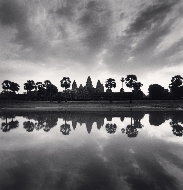 Michael Kenna, Daybreak Reflection, Angkor Wat, Cambodia, 2018
