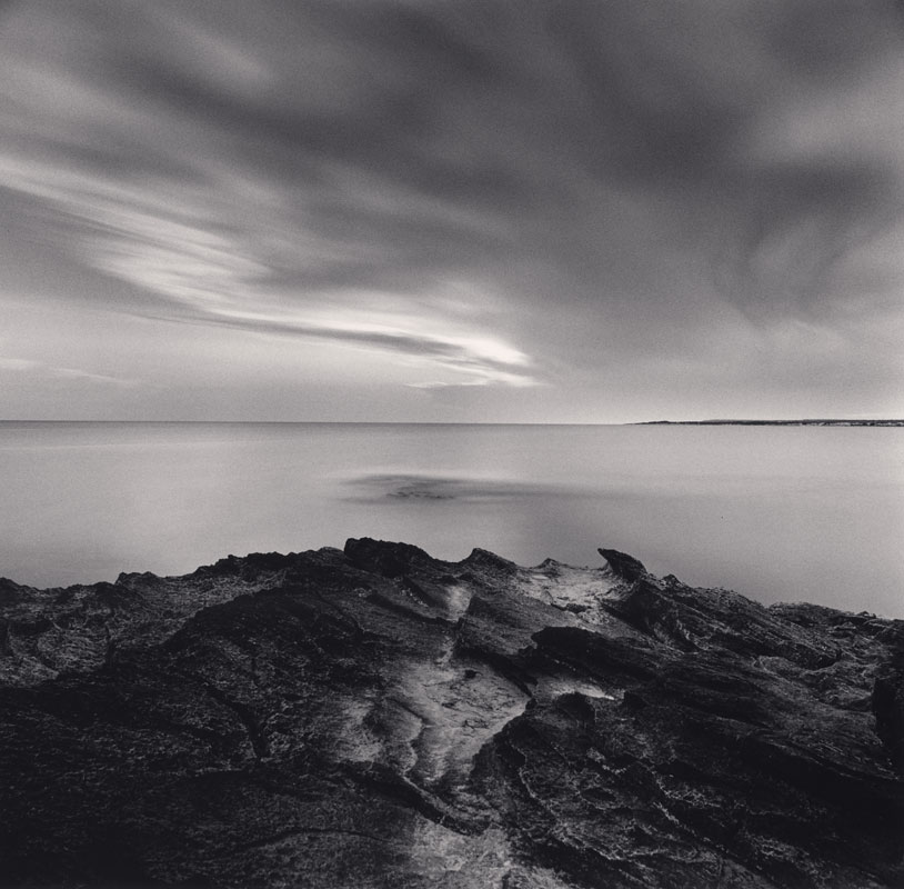 Michael Kenna, Dusk Seascape, Ses Covetes, Mallorca, Spain, 2017