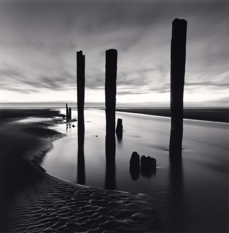 Michael Kenna, Last Pier Posts, Pacific Beach, Washington, USA, 2013