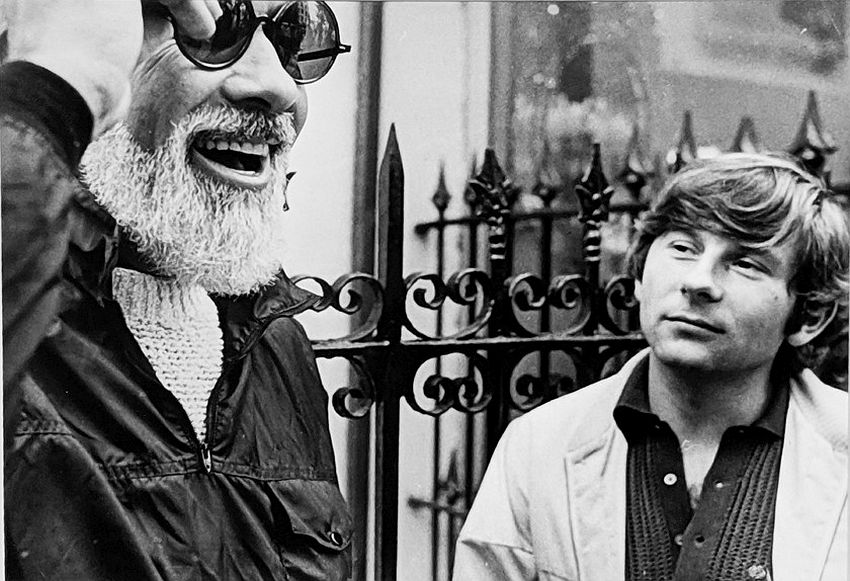 "Photograph by Hatami (1928-2017) William A. Fraker (director of photography) and Roman Polanski, New York City, on the set of ""Rosemary's Baby"" photograph 1968"