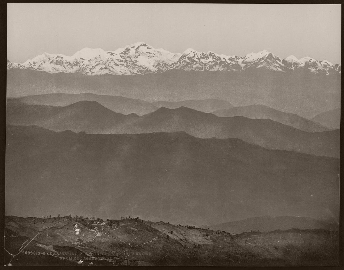 Darjeeling. Kinchinjunga and the snows from Kutcherry Hill