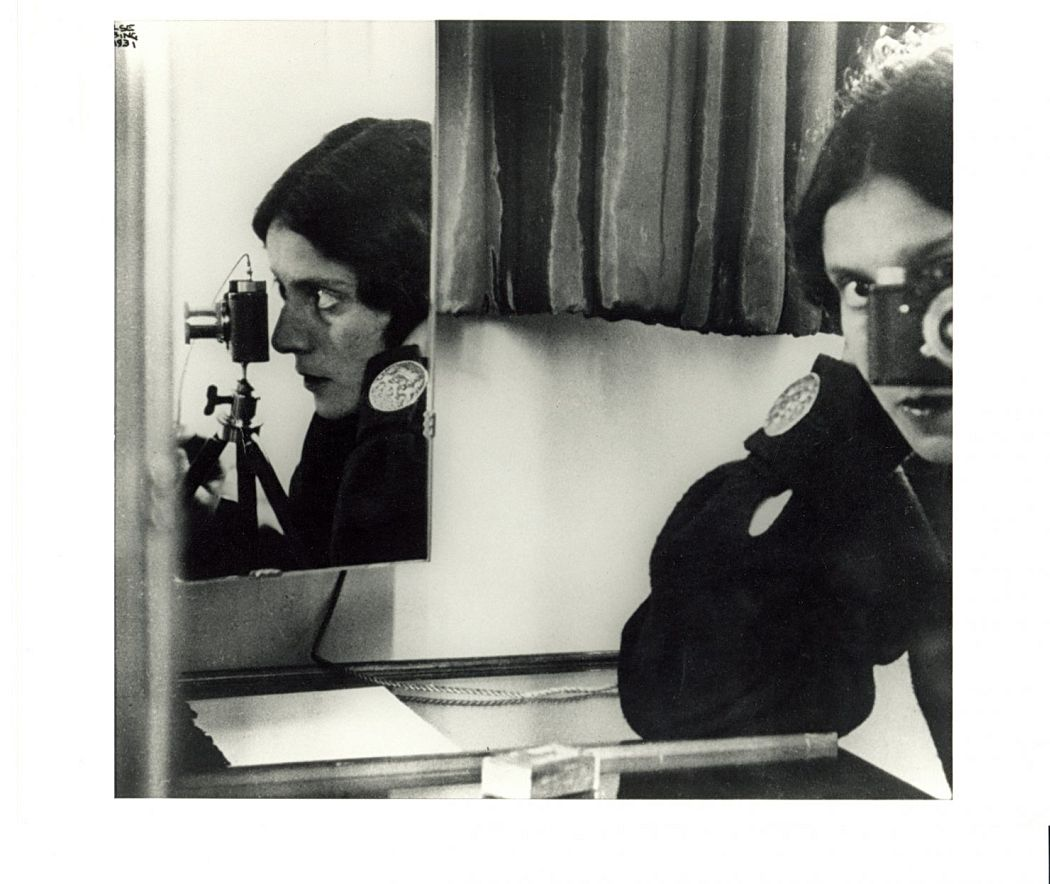 "Ilse Bing (born Germany, 1899–1998), Self-Portrait in Mirrors, Paris, 1931, printed ca. 1941, gelatin silver print. High Museum of Art, Atlanta, purchase with funds from Georgia-Pacific Corporation, 1987.143  Bing's photographs document the early twentieth-century ""new woman,"" a type who was no longer confined to the domestic sphere typical of past generations but engaged freely in the changing urban landscapes in Europe and the United States.  In this multifaceted self-portrait, Bing plays with the concept of fragmented identity through her multiple reflections. The sharp focus on her mirrored profile draws attention away from her forward-pointing lens, allowing the viewer to feel like a subject as well as a spectator."