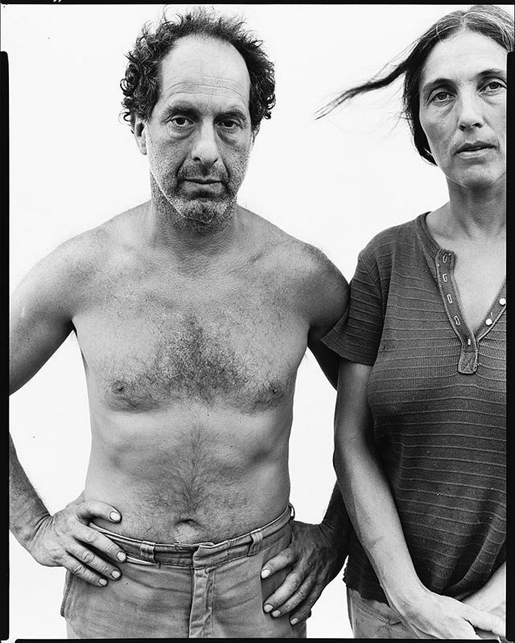 Richard Avedon Robert Frank, photographer, and June Leaf, artist, Mabou Mines, Nova Scotia, July 18, 1975 1975 © The Richard Avedon Foundation
