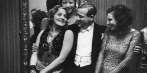 Vintage: Marlene Dietrich, Leni Riefenstahl and Anna May Wong at the Pierre Ball in Berlin, 1928