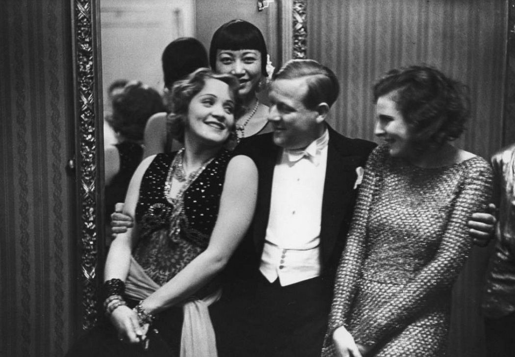 Dietrich and Riefenstahl, with Anna Mae Wong. Courtesy Harvard Art Museums and Busch-Reisinger Museum