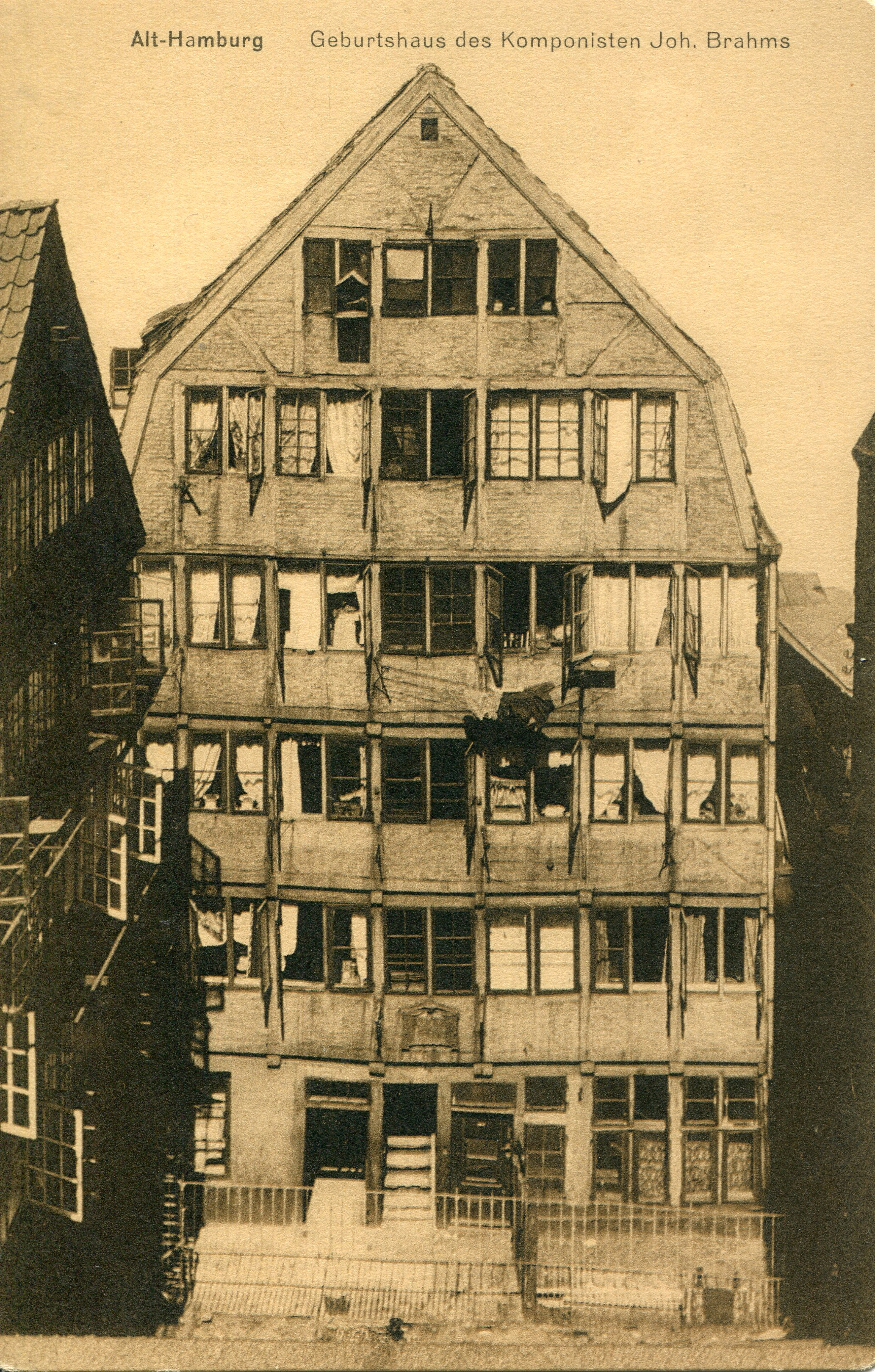 The birthplace of the composer Johannes Brahms (1833-1897), Hamburg