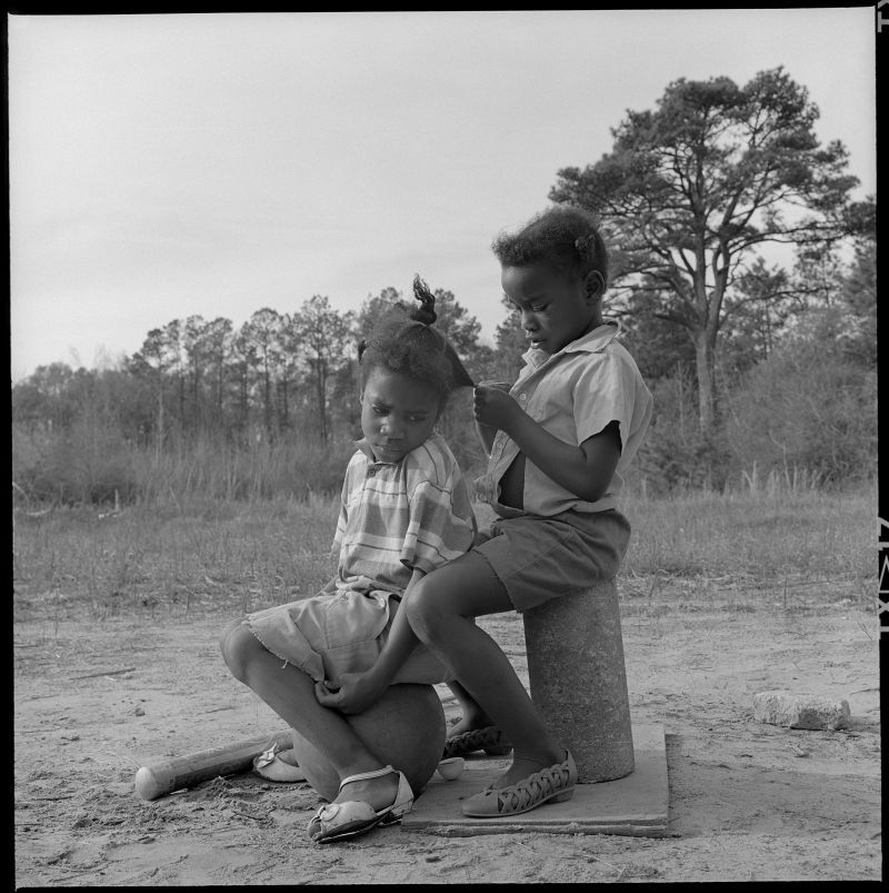 Birney Imes Young Girls near Greenhill Bridge, April, 1988,Columbus, Mississippi