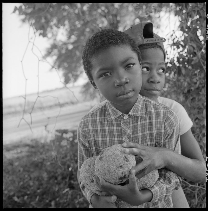 Birney Imes Boys with Horse Apples, Summer, 1987, Lowndes, Mississippi