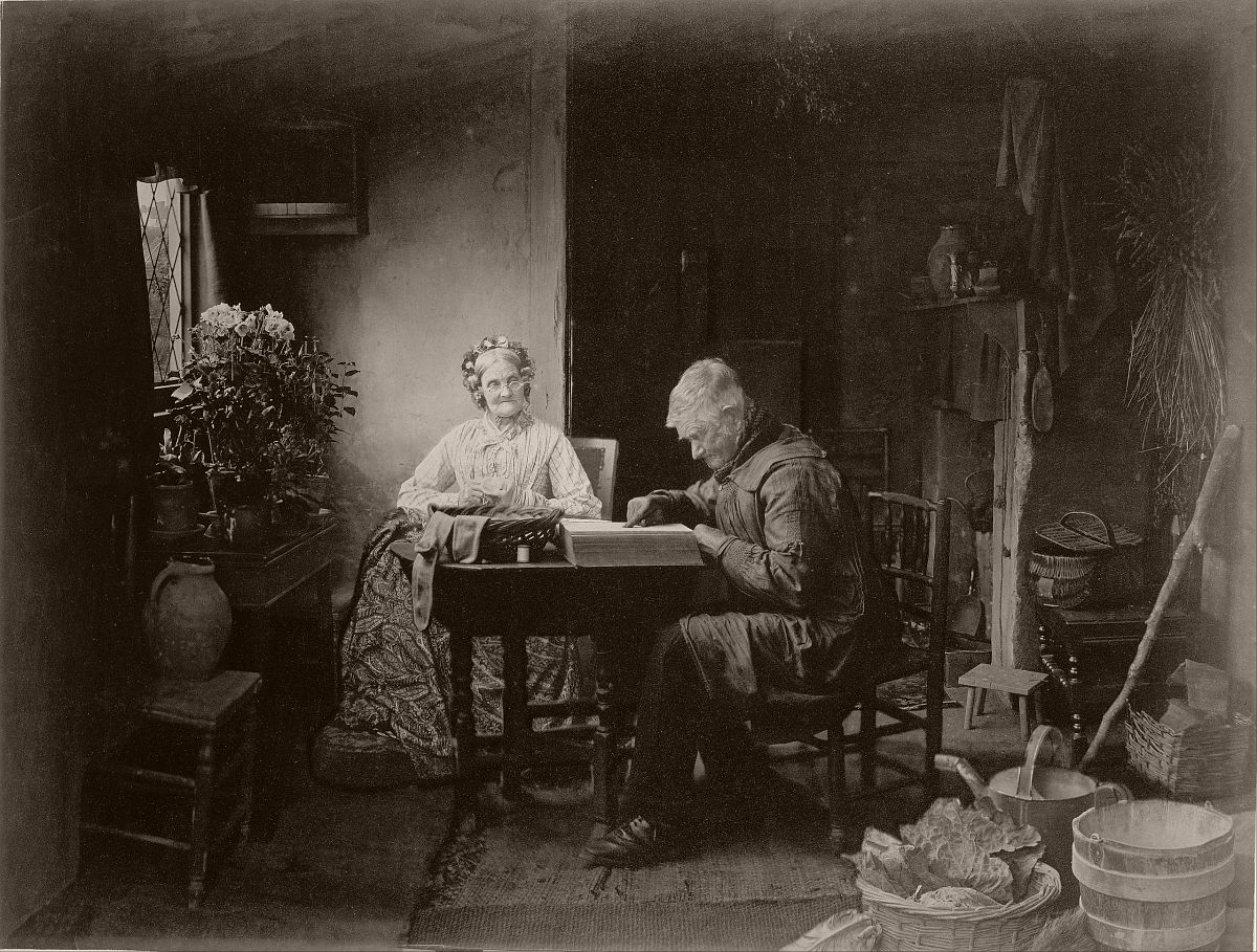 When the Day's Work is Done (1877). Combination print made from six different negatives.