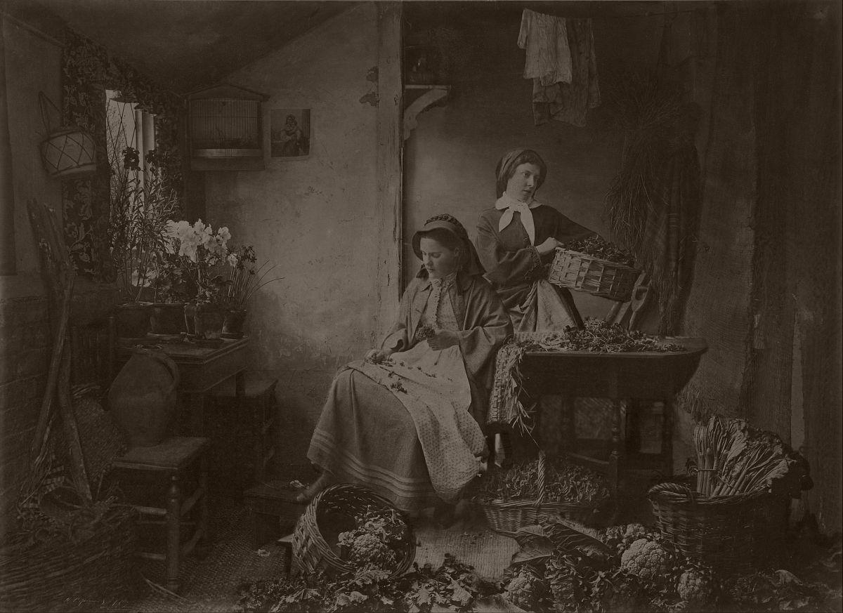 Preparing Spring Flowers for Market, 1873