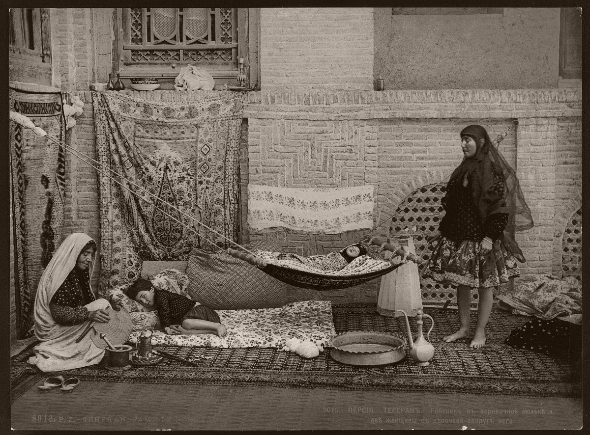 Téhéran. Famille Persane