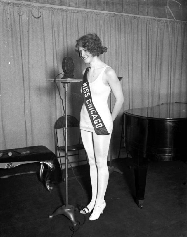 Estelle Kosloff, 20, August 16, 1927. Kosloff won the Miss Chicago beauty pageant in 1927, but was disqualified when the pageant found out she was recently married