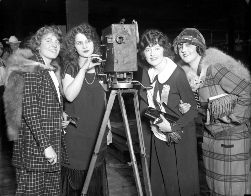 Miss Milwaukee Clare Koehler, from left, Miss Chicago Margaret Leigh, Miss Los Angeles Lillian Knight and Miss Sioux City Alta Sterling, Sept. 1924