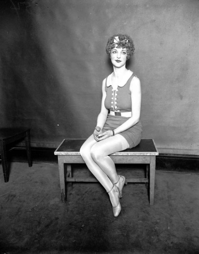 Maebelle Soller at the Miss Chicago contest, Aug. 31, 1926