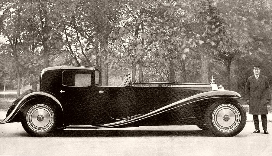 1927 Bugatti Type 41 Royale Coupe Napoleon with with family chauffeur