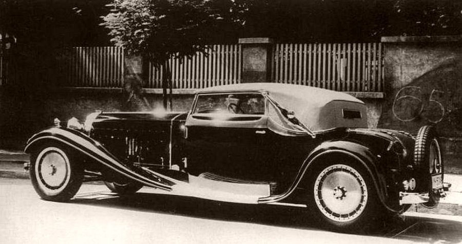 1931 Bugatti Type 41 Royale Victoria Cabriolet body by Weinberger