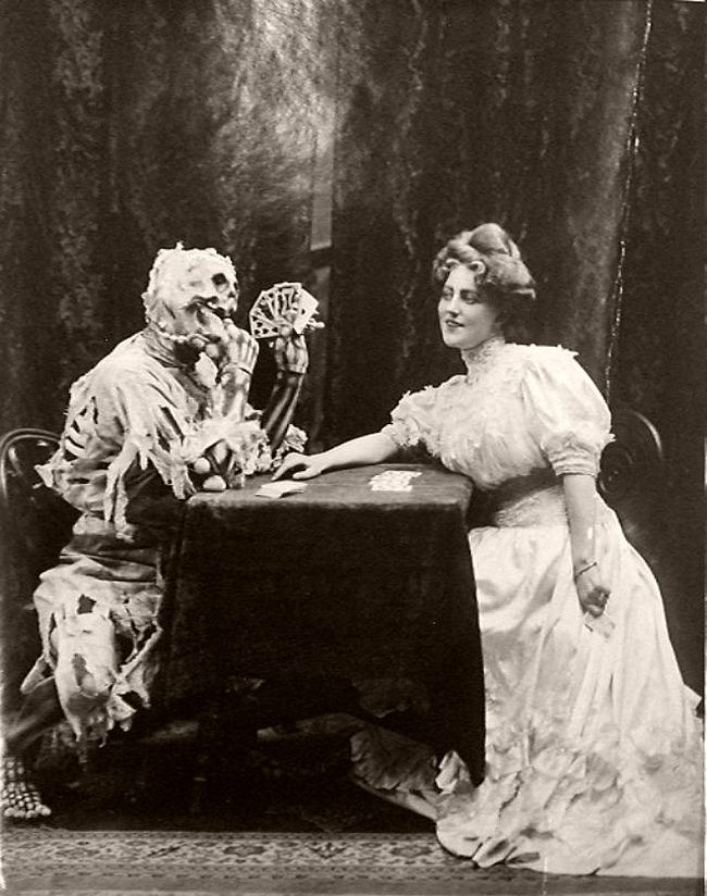 "Victorian Play ""Death and the Lady"" (1906)"