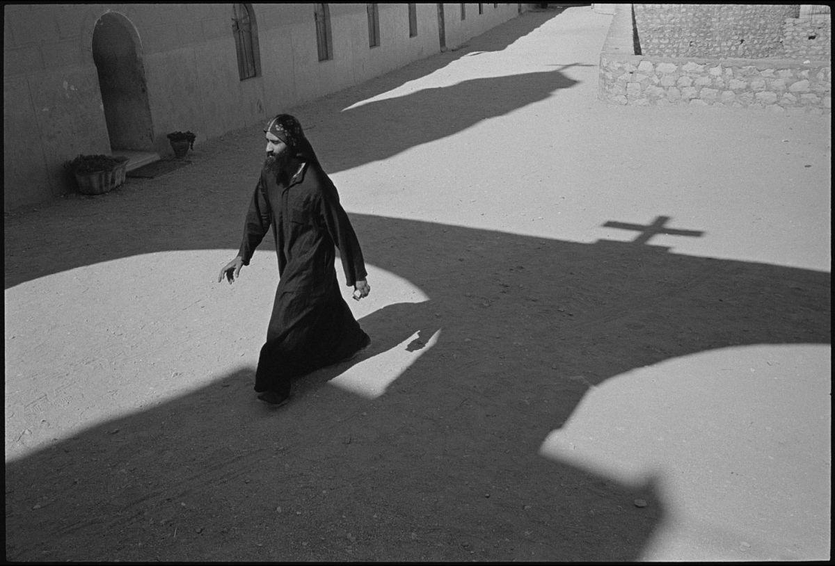 A. Abbas Shadow of the church of the Apostles. St Antony Monastery. Egypt. 1997. © A. Abbas | Magnum Photos